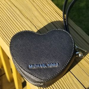 Michael Kors Peek A Boo Black Heart Coin Purse